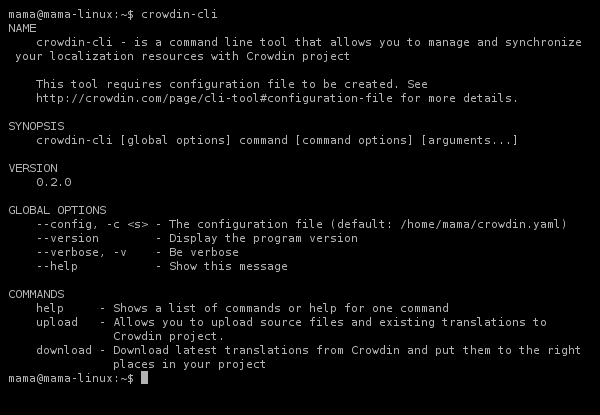 cli-client screenshot
